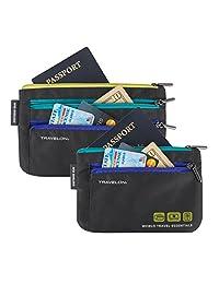 Travelon Travelon World Travel Essentials juego de 2moneda y Passport organizadores bolso de viaje, Graphite, Una talla