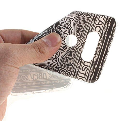 Slim Résistant Bord Peint Arrière Cas Scratch Mandala Protection Fit Cas Couverture Souple H868 De En Silicone Téléphone Antichoc G5 TPU De Motif LG Transparent Hozor PB7Xan