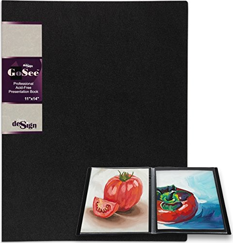 GoSee Professional Archival Presentation Book 11x14'' 24 Pages by Stein Design
