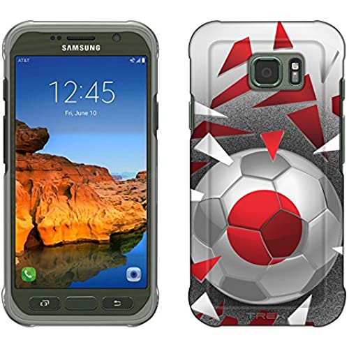 Samsung Galaxy S7 Active Case, Snap On Cover by Trek Soccer Ball Japan Flag Slim Case Sales