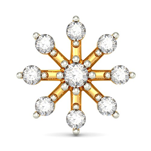 18 K Or jaune 0.24 CT TW White-diamond (IJ | SI) Boucles d'oreille à tige