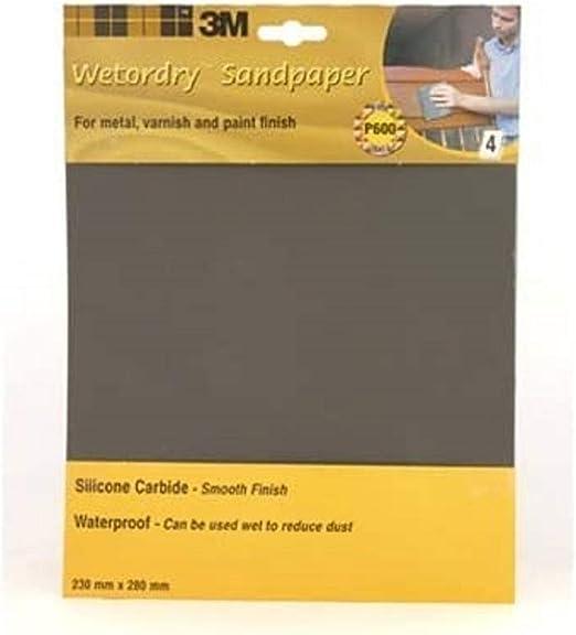 3 m e60056 314 Papier abrasif p600 230mmx280mm imperméable 25 pièces