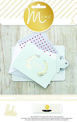 American Crafts 8 Piece Heidi Swapp Minc Card Set, Hello
