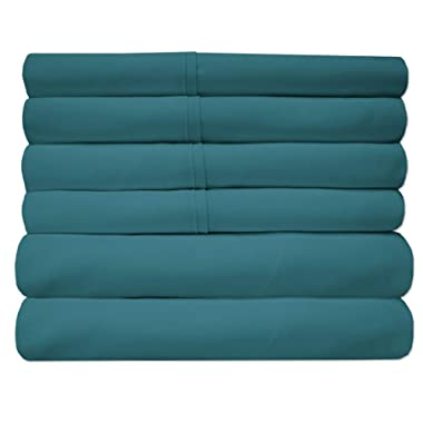 Sweet Home Collection Quality Deep Pocket Bed Sheet Set-2 Extra Pillow Cases, Value, Queen, Teal, 6 Piece