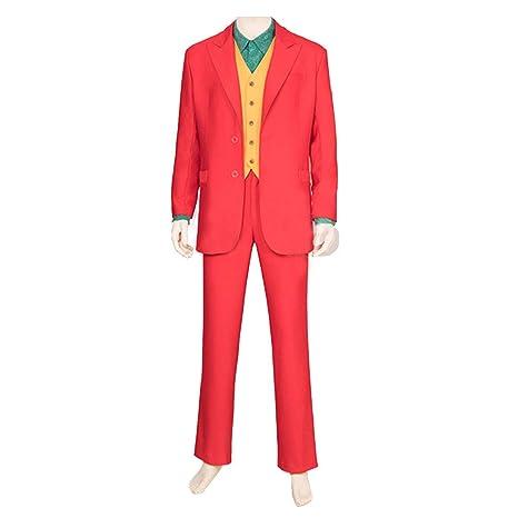 nihiug Payaso Joker Movie cos Disfraz Payaso Camisa roja ...