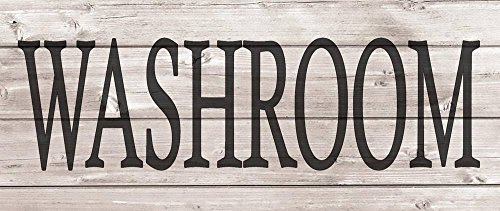 Yohoba Washroom Metal Signs Wood Look Rustic Wall Decor Retr