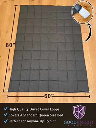 fantastic Knight Weighted Blankets For Autism put Stress Anxiety 60x80 20 lbs Hypoallergenic Poly Pellets Washable 100 Cotton Material