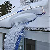 Roof Snow Rake Removal Tool 20 Ft with Adjustable Telescoping Handle Rooftop Clean up The Fallen Leaves Extendable Oxford Cloth