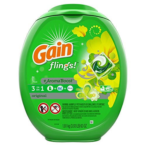 Gain Flings Laundry Detergent Pacs, Original Scent, 81 count ()