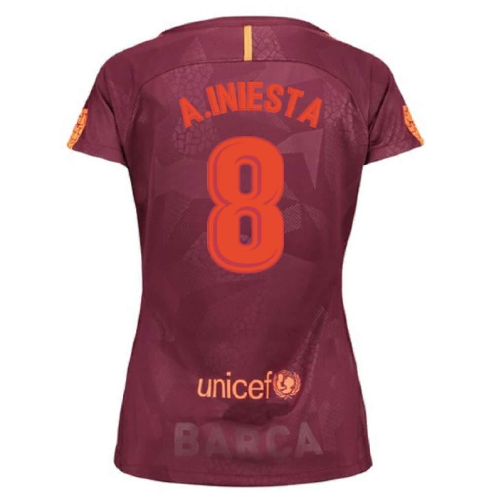 2017-18 Barcelona Third Damens Football Soccer T-Shirt Trikot (Andres Iniesta 8)