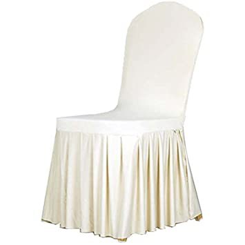 AYG Chair Covers Spandex Lycra Cover Pleated Skirt Elastic Sleeve Cover  Wedding Banquet Anniversary Party Decoration