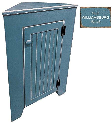 Sawdust City Corner Cabinet (Old Williamsburg Blue)