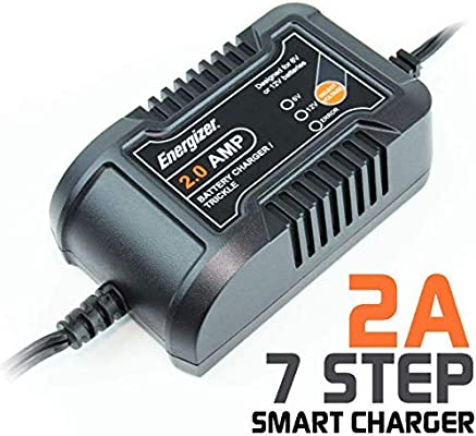 Energizer ENC2A 2 Amp Battery Charger + Maintainer 6/12V - 7 Step Smart  Charging Technology That Will Improve Your Battery's Life Cycle for Car, RV  or