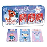 Rudolph the Red-Nosed Reindeer 3 In 1 Card Game Set - Old Maid - Go Fish - Crazy 8's Card Games