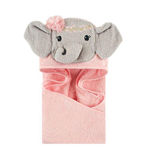 Little Treasure Animal Face Hooded Towel, Blossom Elephant]()