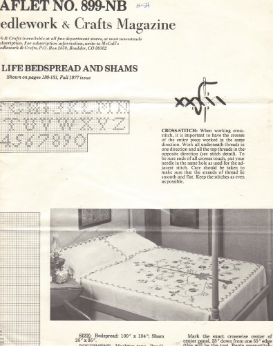(Tree of Life Bedspread and Shams - Cross Stitch Pattern (McCall's Needlework & Crafts Magazine, Fall 1977, Leaflet No. 899-NB))