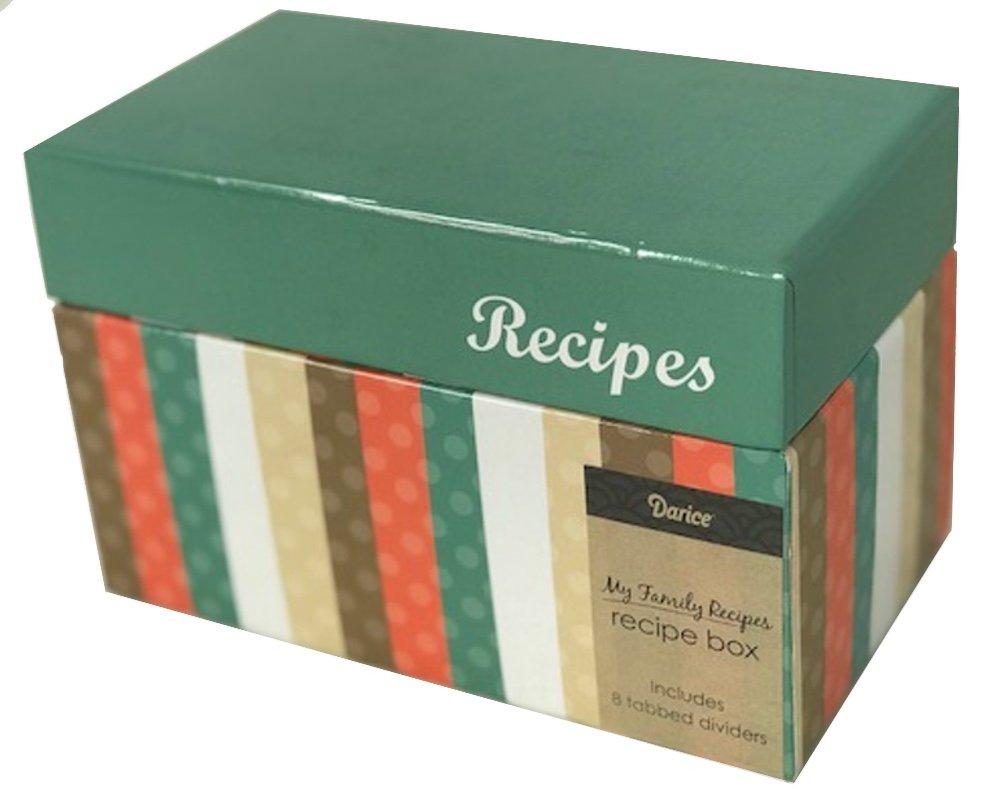 Mi Familia Recetas Card Box por Darice - Plantilla para grabar en ...