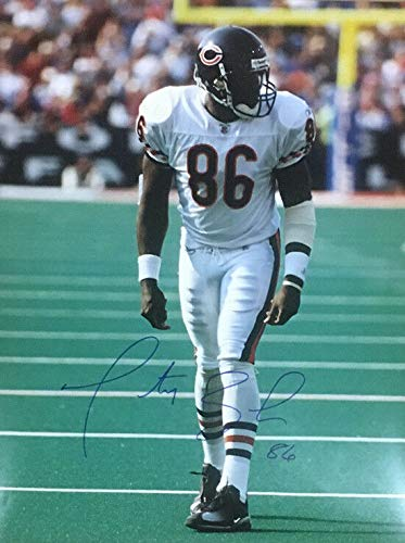 (MARTY BOOKER AUTOGRAPHED/SIGNED CHICAGO BEARS 16X20 PHOTO)