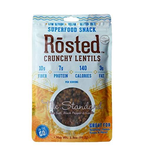 Supplemental Fiber - Simple Supple Foods Roasted Lentils The Standard flavor, Pack of 3