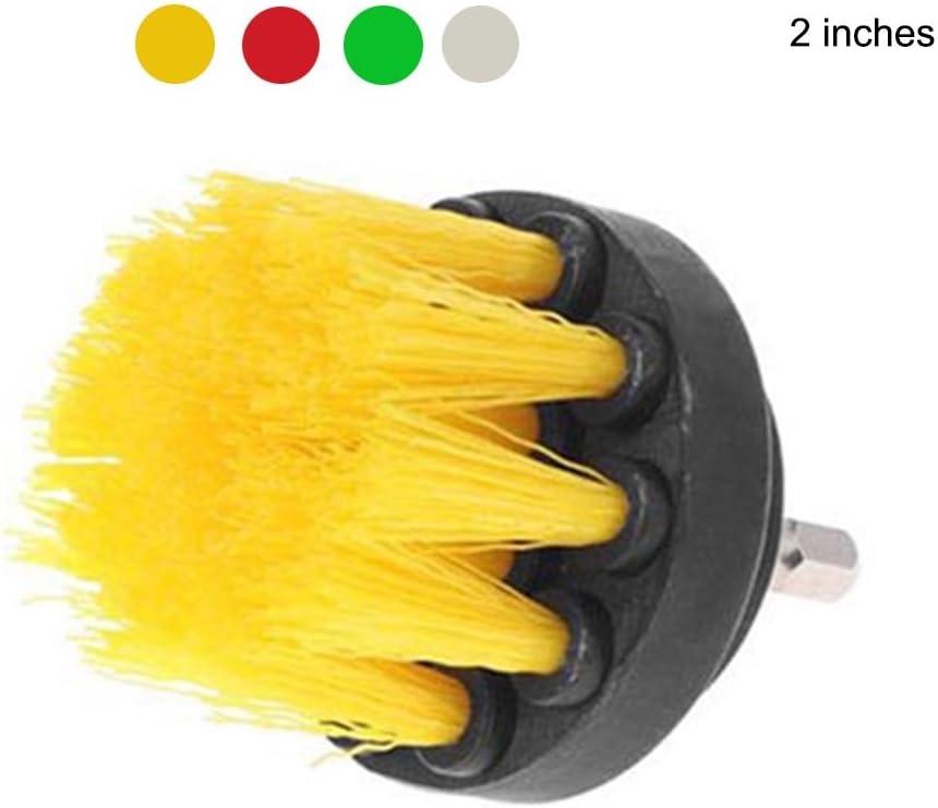 Brosse de Nettoyage /Électrique en Acier Inoxydable Perceuse Brosses en Plastique pour Nettoyer Surface des Tissus Mous et Les Int/érieurs de Voiture