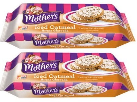 Mothers Cookies Iced Oatmeal, 13.25 Oz, Pack of ()
