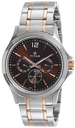 Titan Men's Contemporary Chronograph/Multi Function Work Wear,Quartz,Analog, Water Resistant Wrist Watch ()