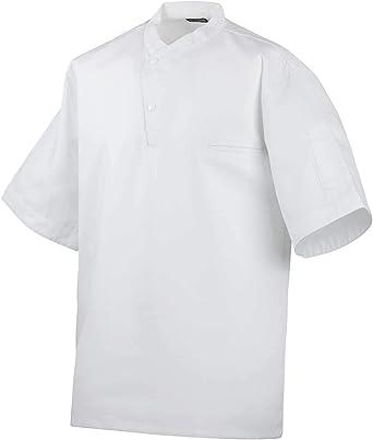 Camisa de Cocina, Manga Corta, Blanco, 100% algodón: Amazon.es: Ropa y accesorios