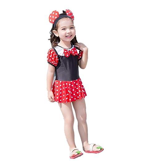 Zhongsufei-GW Bañador de una Pieza para niña Traje de baño ...