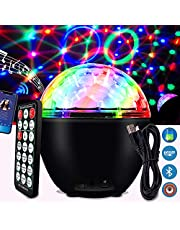 HUANLANG Disco Ball Light Led Disco Party Light with Bluetooth Speaker 16 Color Rotating Lighting Effects Stage Light Remote Disco Lights for Home Room Kids Dance Parties Birthday Wedding Decoration