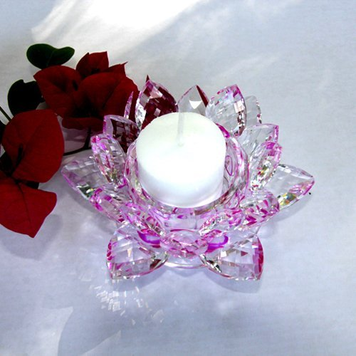 - Crystal Lotus Candle Holder 4.5