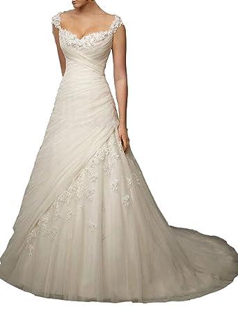 YIPEISHA Women\'s Sweetheart Applique Bust Ruched Elegant Wedding ...