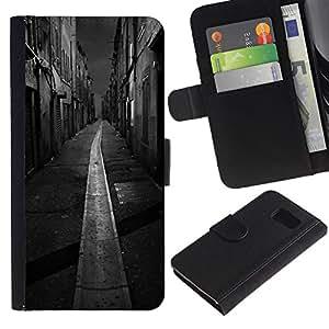A-type (Black White Italy France City) Colorida Impresión Funda Cuero Monedero Caja Bolsa Cubierta Caja Piel Card Slots Para Samsung Galaxy S6