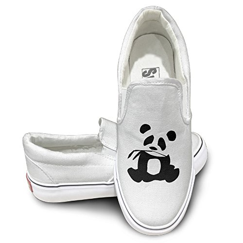 EWIED Unisex Classic Panda Is My Sprit Animal Slip-On Shoes White (Utah Jazz Bear Costume)