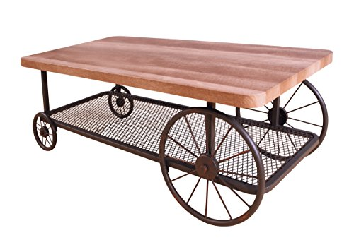 Acme Furniture Acme 82860 Francie Coffee Table, Oak & Antique Gray, One Size
