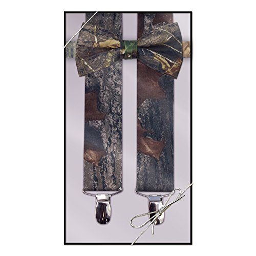 Suspender & Bow Tie Set (Adult, Camouflage)