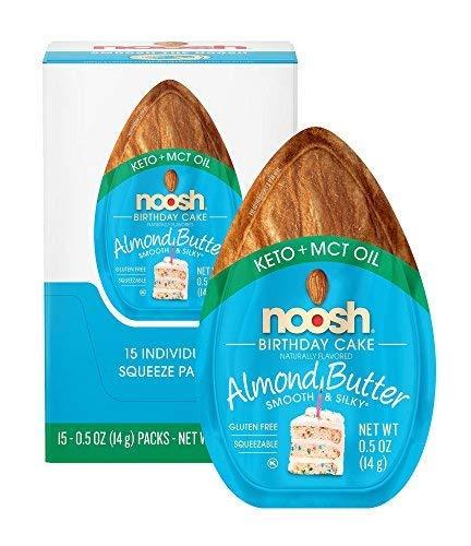- NOOSH Keto Almond Butter Birthday Cake 15 ct - Vegan, Gluten Free, Kosher, Non GMO, Ketogenic and low carb friendly