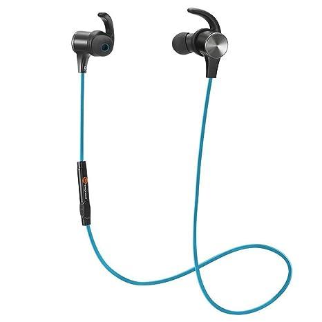 Cuffie Bluetooth Magnetiche TaoTronics Auricolari Sportivi Wireless Stereo Bluetooth  4.1 IPX5 aptX A2DP 6 ore di 7f3402d07206