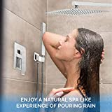 PurrfectZone Shower Faucets Sets Complete Chrome | 12 Inch Waterfall Showerhead with Handheld | Rain Shower Head with Handheld | Rainfall Shower Head with Handheld | Shower Valve and Trim Kit