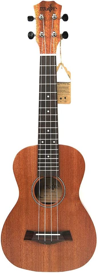 JVSISM - Ukelele (21 pulgadas, madera de caoba, para guitarras Dolphin, ukelele, caoba, mástil, 4 cuerdas)