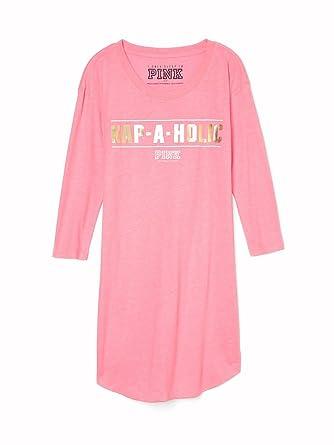 72a7592e7fd54 Victoria's Secret Pink Women's Sleep Shirt Nap-A-Holic (Small) at ...