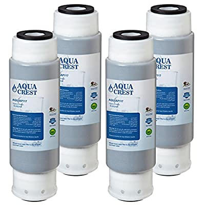 AquaCrest AP117 Whole House Filter Replacement Interchangeable with 3M Aqua-Pure AP117, Whirlpool WHKF-GAC, 4 Pack
