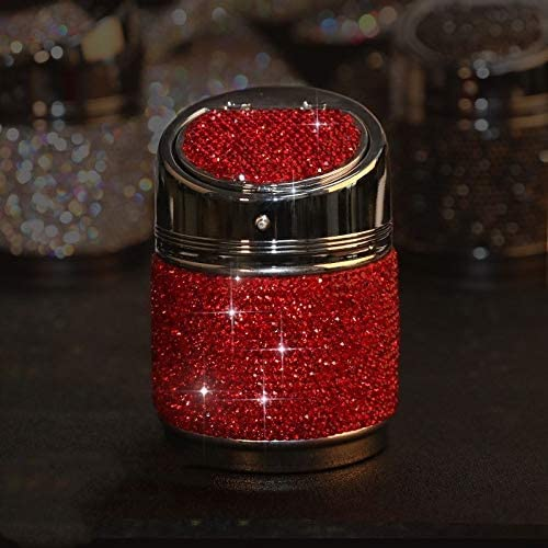ポータブルで掃除が簡単 ダイヤモンド多機能車の灰皿 車、オフィス、家、バー、宴会、その他の機会に適しています (Color : Red)