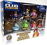 Disney Club Penguin Mix N Match Mini Figure 8Pack #3 Plus 2 Gold Coins Cheerleader, Gamma Gal, Shadow Guy, Referee, Cadence, Knight, GREEN Dragon Rockstar