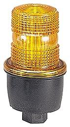 Federal Signal LP3P-012-048A Streamline Low Profile Strobe Light, Pipe Mount, 12-48 VDC, Amber