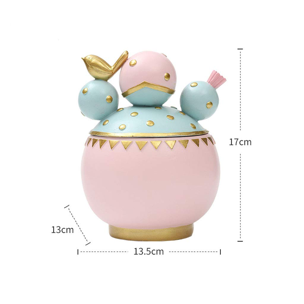 Ornaments for Home-Resin plantjewelry Box displaycabinet Decoration Decoration Ornaments Desktop Storage Gifts 13.51317 (Color : A)