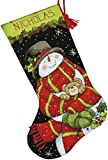 Product review for Dimensions Crafts Needlepoint Stocking Kit, Snowman and Bear