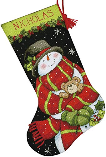 (Dimensions Crafts Needlepoint Stocking Kit, Snowman and Bear)