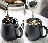 DehuaYao Ceramic Black Tea Cup Mug with Lid and