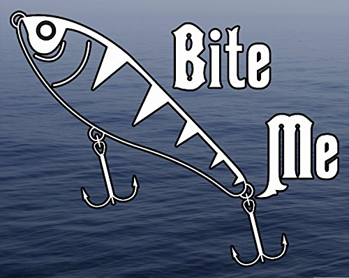 Decal Fresh (Bite Me - Fishing Lure Fresh Water Background Full Color window decal sticker)