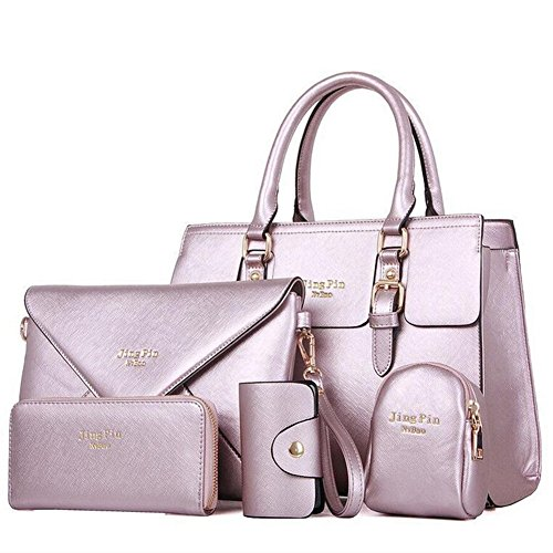 Crossbody Handbags PU Wallet Women Women Crossbody Newbestyle Purple Wallet Newbestyle Handbags PU Set 5PCS q8EfxzB